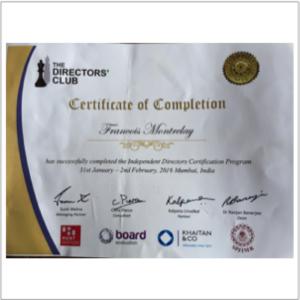 Director Certificate 300*300