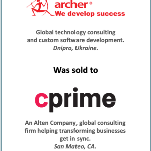 P2P Consultants Advise the Sale of Archer Software to Alten-cPrime